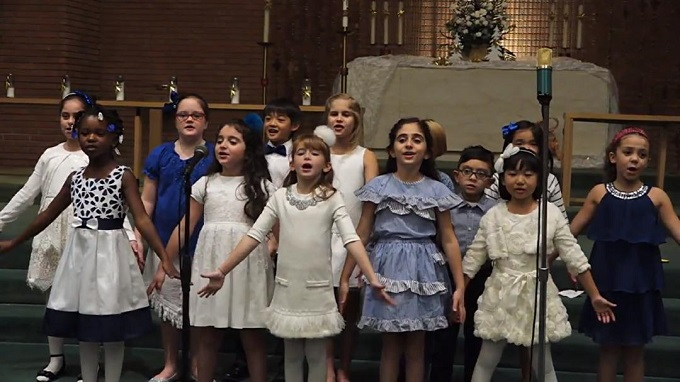 WLA Children's Choir Sing at Corporate Event
